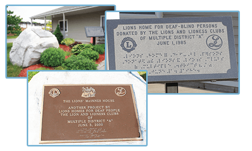 Lions McInnes House Outside Front Plaques